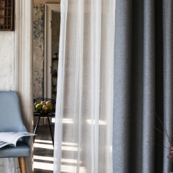 Perdea Mendola Interior, Utah, 300x245 cm, poliester, argint