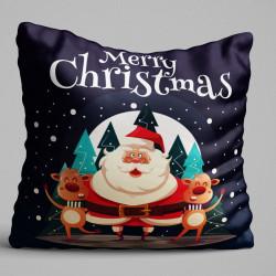 Perna decorativa, Christmas Decoration KRLNTXMAS-15, 43x43 cm, policoton, multicolor