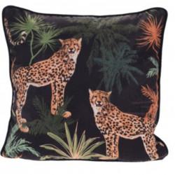 Perna decorativa Jungle, 45x45 cm, poliester, negru