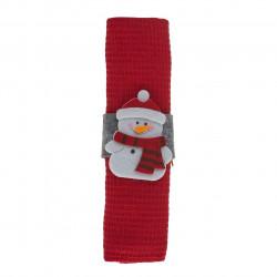 Prosop de bucatarie cu inel Snowman, Heinner, 38x64 cm, bumbac, rosu