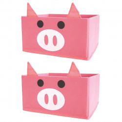 Set 2 cutii de depozitare Pig Jocca