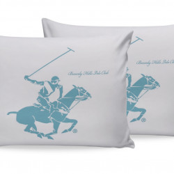 Set 2 fete de perna, Beverly Hills Polo Club, White Mint, 50 x 70 cm, 100% bumbac