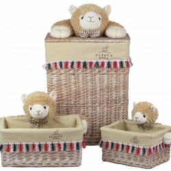Set 3 cosuri Alpaca Bedora, salcie/material textil, multicolor
