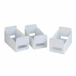 Set 3 cutii pliabile, Wenko, pliabile, 15 x 18 x 40 cm, polipropilena, alb