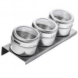 Set 3 recipiente condimente si suport magnetic Luigi Ferrero, FR-1303 SS, 100 ml