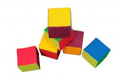 Set 6 cuburi educative, Multicolor