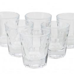 Set 6 pahare Glam, Pasabahce, 5.5 x 3.5 x 4.8 cm, sticla, transparent
