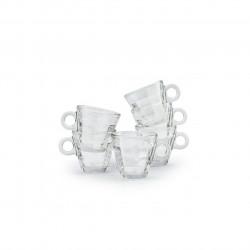 Set espresso Cube, Bormioli, 6 piese, 100 ml, sticla