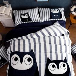 Set Lenjerie Pufoasa Cocolino cu 2 Fete, 4 Piese, Owls, LCJ4-04