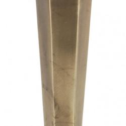 Suport pentru lumanare, 10x37 cm, metal, auriu