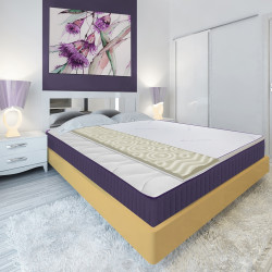 Topper saltea Green Future, Lavanda Therapy Memory 7 zone de confort 90x200 cm, 5 cm