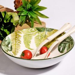 Bol pentru salata, Kosova, Green, ceramica, Ø26xH5 cm