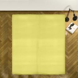 Cearceaf de pat cu elastic Yellow Heinner, 140x200 cm, 100% bumbac, galben