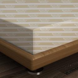Cearceaf de pat dublu, 240x260 cm, 100% bumbac ranforce, Beverly Hills Polo Club, Cream/White