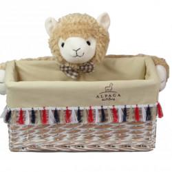 Cos M Alpaca Bedora, salcie/material textil, multicolor