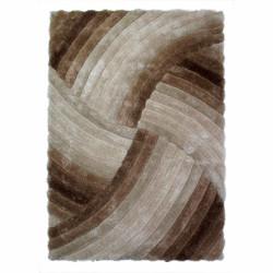 Covor Verge Furrow Natural, Flair Rugs, 160 x 230 cm, 100% poliester, maro