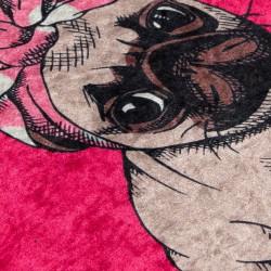 Covoras de baie, Chilai, Pink Pug DJT, 40x60 cm