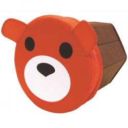 Cutie de depozitare Bear Jocca, 21 x 22 cm, polipropilena, maro/portocaliu