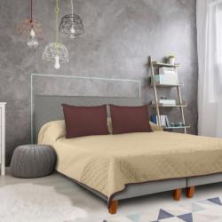 Cuvertura matlasata cu 2 fete Alcam, 210 x 220 cm, Chocolate/Vanila
