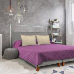 Cuvertura matlasata cu 2 fete Alcam, 210 x 220 cm, Purple/Vanila