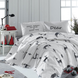Cuvertura pentru o persoana GoodTime - White, EnLora Home, 160x235 cm, bumbac, alb