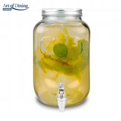Dispenser pentru bauturi Party, Heinner Home, sticla, plastic si metal, 15.2 x 25.30 cm, 4L
