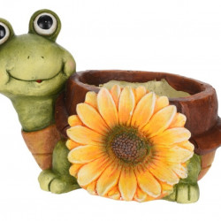 Ghiveci Turtle with sunflower, 35x25.5x25 cm, oxidat de magneziu