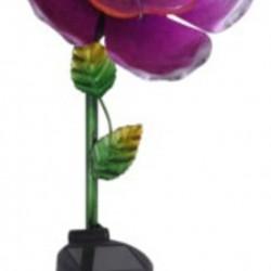 Lampa de gradina Flower, 15.5x11x81 cm, metal, roz