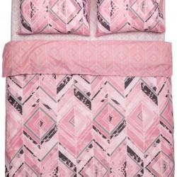Lenjerie de pat dubla Amelia, Heinner, 4 piese, 220x240 cm, bumbac, multicolor