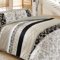 Lenjerie de pat pentru o persoana, 3 piese, 100% bumbac ranforce, Cotton Box, Deborah