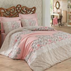 Lenjerie de pat pentru o persoana Megan- Beige, Cotton Box, 3 piese, bumbac ranforce, bej
