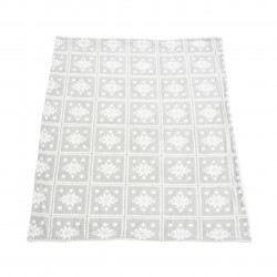 Patura fleece cu blanita Flake, Heinner Home, 150x200 cm, 100% poliester, gri