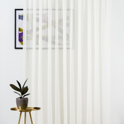 Perdea Mendola Interior, Batiste, 600x245 cm, poliester, crem