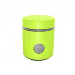 Recipient cu capac Muhler, MR-1403, sticla/metal, 550 ml, verde