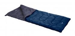 Sac de dormit pentru camping L, 180x74 cm, poliester, albastru inchis