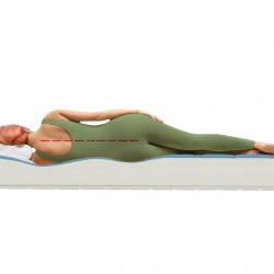 Saltea Green Future Cool Bamboo 12+3 cm Memory, Anatomica, Ortopedica 160x200 cm