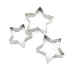 Set 3 forme pentru biscuiti Star, Luigi Ferrero NORSK FR-1760, inox