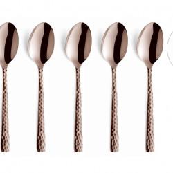 Set 6 lingurite pentru cafea, Amefa, Felicity Mocca, inox, roz