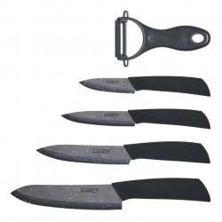 Set cutite 5 piese Cook in style, Heinner, ceramica, negru
