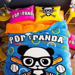 Set Lenjerie Pufoasa Cocolino cu 2 Fete, 4 Piese, Pop Panda, LCJ4-17