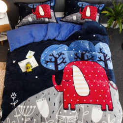 Set Lenjerie Pufoasa Cocolino cu 2 Fete, 4 Piese, Red Elephant, LCJ4-05