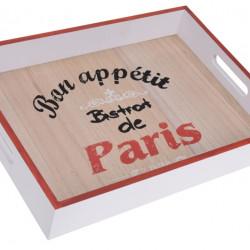 Tava pentru servire Paris, 40x30x5.2 cm, MDF, alb