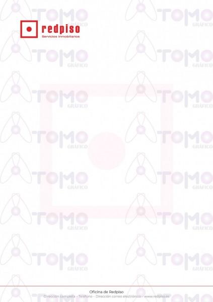 Hojas de carta, con membrete 2/0 Tintas - 1.000 unidades imágenes