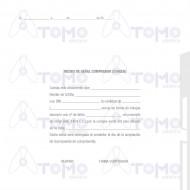 Recibo De Señal De Comprador - Cheque. 100 juegos