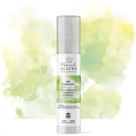 Gel purifiant organic pentru tenul predispus la acnee, 65% extract din mucus de melc nestresat, recoltat manual, 50ml