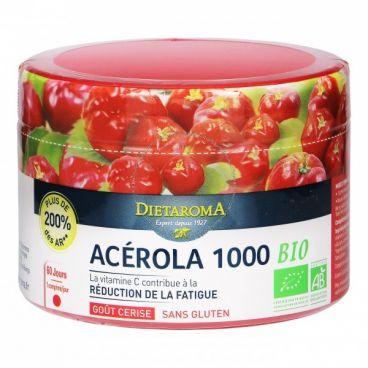 ACEROLA 1000 ECO 60 comprimate masticabile, pentru întreaga familie, sustine sistemul imunitar, ajuta la formarea colagenului