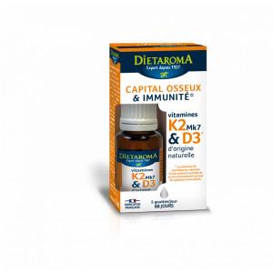 VITAMINA K2 și D3 flacon din sticla cu picurator, 15ml, sustine imunitatea si sistemul osos