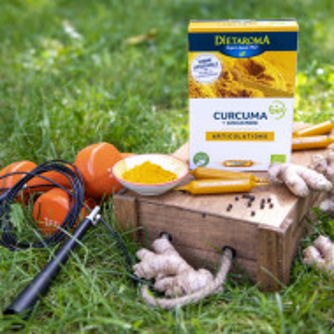 CURCUMA BIO - Turmeric și ulei de Ghimbir 20 fiole, 200ml, sustine imunitatea, antiinflamator natural
