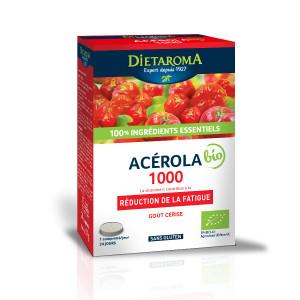 ACEROLA 1000 ECO 24 comprimate, 12 comprimate x 2 tuburi, gust placut, sustine sistemul imunitar, reduce oboseala