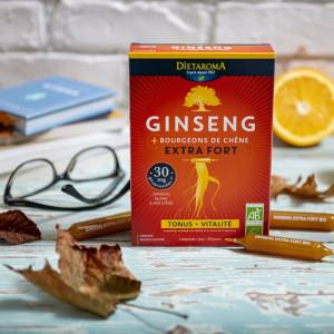 GINSENG EXTRA FORTE BIO- Extract de rădăcină de Ginseng, 20 fiole, 200ml, combate oboseala, revigorant